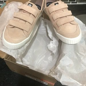 Speedy Crest Creep Pink Suede Velcro shoes